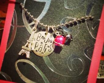 Paris Necklace; Eiffel tower necklace