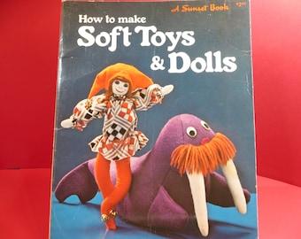 Vintage How to Make Soft Toys & Dolls Craft Book