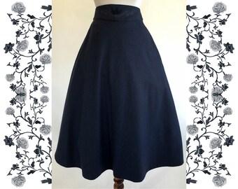 1970's Vintage Deadstock NOS Wool Dirndl Skirt