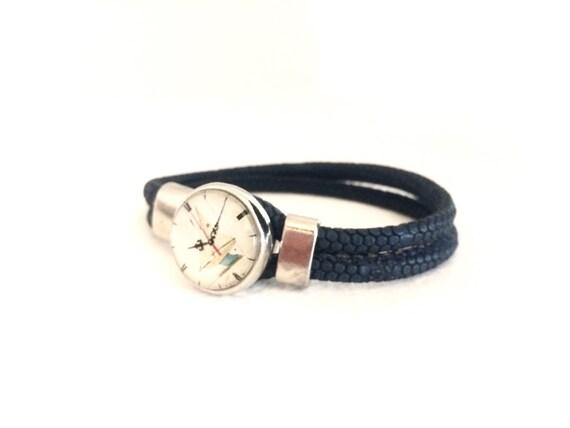 mens leather bracelet for him bracelet leather by