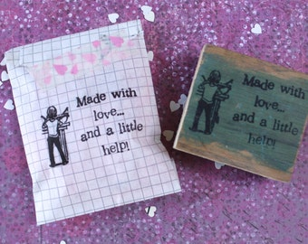 Made with a little help stamp by Michelle E. Black