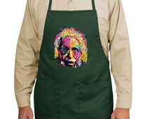 Neon Einstein New Apron Gift Cook Events Gifts Pop Art Cool