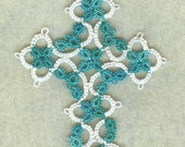 Tatted lace cross
