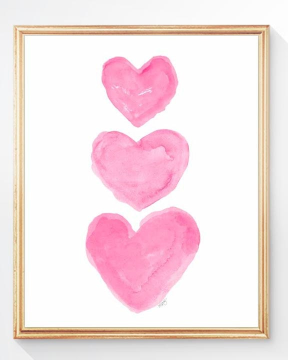 Hot Pink Nursery Art Girls Hot Pink Wall Decor Pink