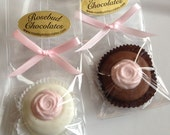 12 Chocolate Rosebud Oreo Cookie Favors Flower Rose Garden Party Tea Birthday Wedding Bridal Shower Candy Anniversary