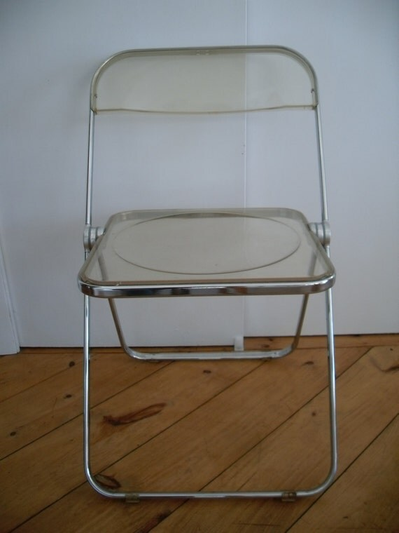 Vintage Mid Century Lucite Folding Chair by NotSoAntique on Etsy