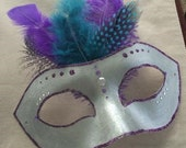 Custom handmade blinged Mask Cake Topper