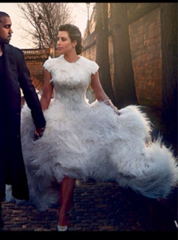 IRINA SHABAYEVA COUTURE Feather Queen Elizabeth dress