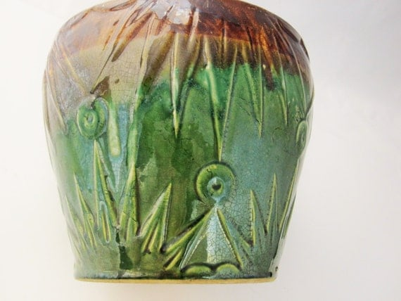 and Stars Art Deco Jardinière Starburst- McCoy Pottery - Art D...