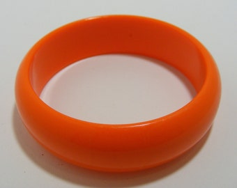 Plastic Neon Orange Bangle Bracelet