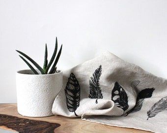 Tea towel - Feathers