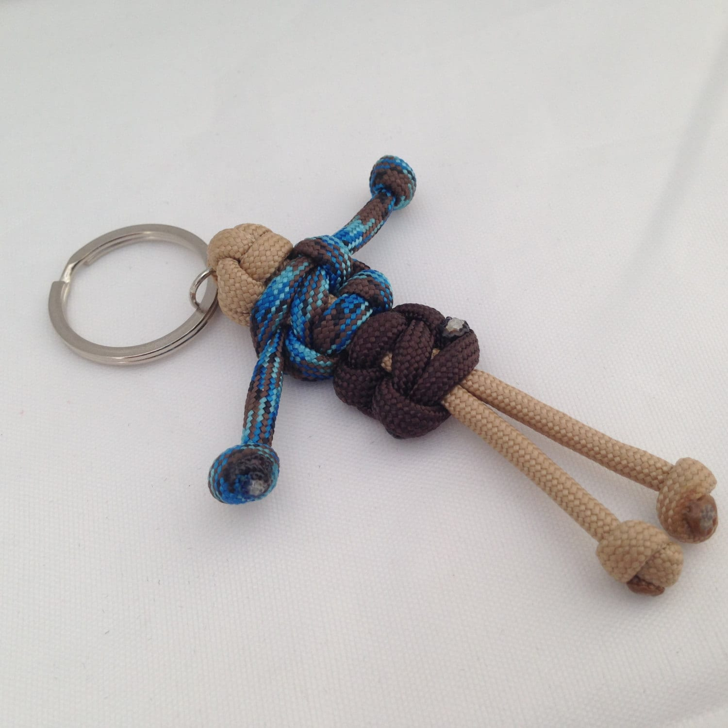 Geobuddy paracord key chain geocaching swag for How to make a keychain out of paracord