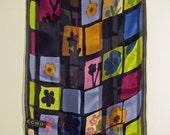 Echo Flowered Silk Scarf, Multi-Colored