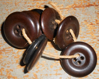 Vintage brown coat buttons – Etsy