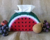 Watermelon Delight Plastic Canvas Tissue Box Cover