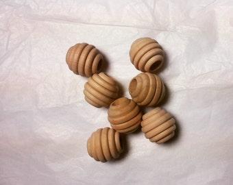 "3/4"" Wooden Mini Hive Beads 20mm Maple Hardwood - Set of 20"