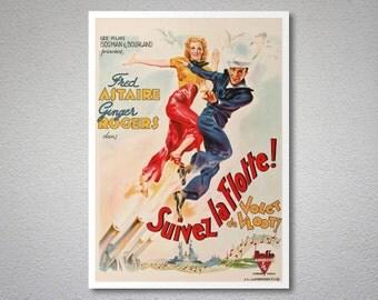 Suivez La Flotte Movie Poster - Poster Paper, Sticker or Canvas Print