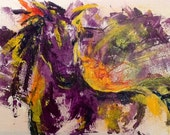 "Horse painting, 60"", Art, Huge Painting, Extra Large Art, Abstract Painting, Original Painting - Made to Order"