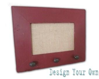Small Burlap Cork Board, Custom Framed Cork Board, Design Your Own Distressed Message Board, Pin Board, Bulletin Board-14x18, Monogram