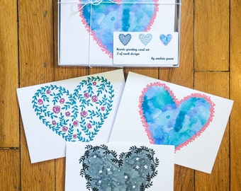 Hearts Greeting Cards