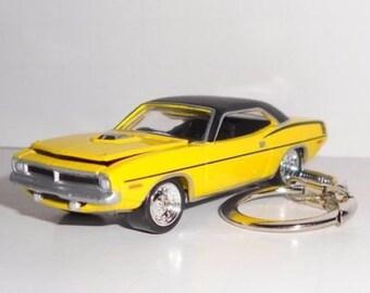 1970 Plymouth Hemi Cuda Key Chain