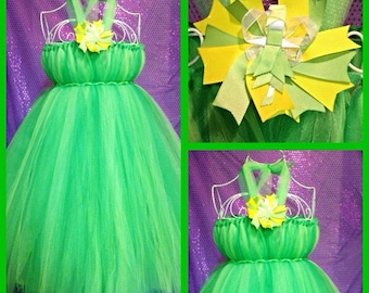 Tinkerbelle pixie fairy tutu dress