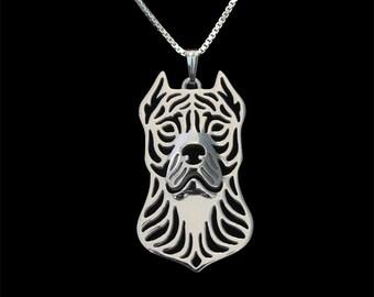 Perro de presa canario - sterling silver