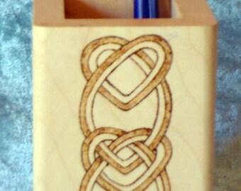 Celtic Design Pencil Pot