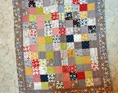 Gray Patchwork Baby Boy Quilt in Reunion Gray 36 buy 42