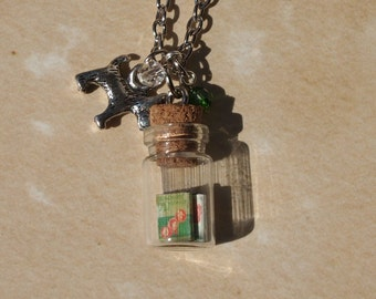 Tiny Wizard of Oz Books in a Jar Necklace