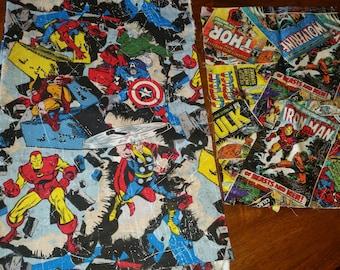 Marvel Avengers denim shorts, skirts, jackets or overalls.