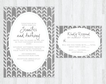 The Hazel | Hipster Wedding Invitation