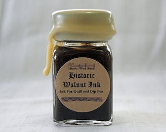 Black Walnut Historic Calligraphy and Drawing Ink, 1 oz