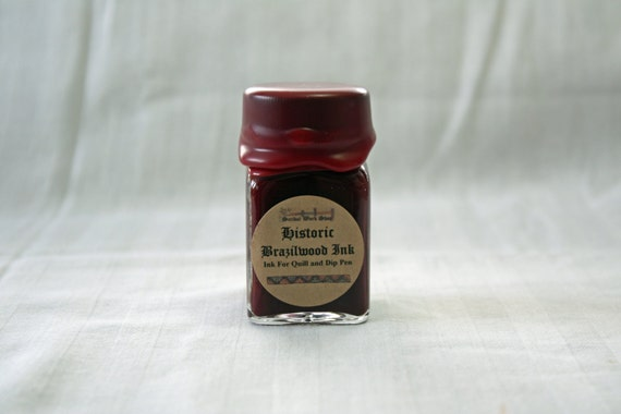 Red Brazilwood Historic Calligraphy and Drawing Ink, 1 oz