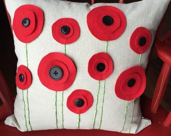 Poppy Pillow COVER ONLY