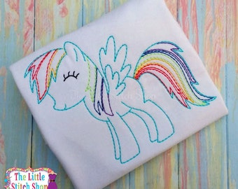 Color Your Own - Rainbow My Little Pony Birthday Custom Tee Shirt - Customizable -  Infant to Youth 57