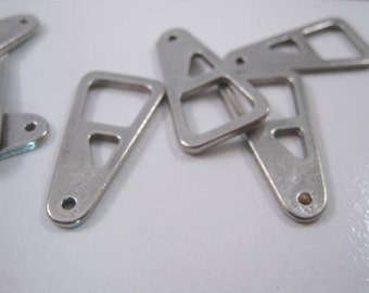 Zipper Pull Pendant, 15 x 29mm, Pewter charm, Pendant, jewelry supplies, 2pc