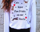 Cats paws sweater - Size M