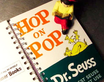 JOURNAL  Hop on Pop Dr Seuss book Vintage Book Recycled upcycled