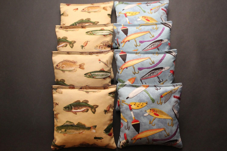 Fishing Cornhole Bean Bags Nature Fish 8 Aca Regulation Corn