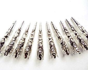 10 Silver Filigree Bead Caps - 18-SC-6