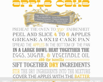 Apple Cake Recipe Print