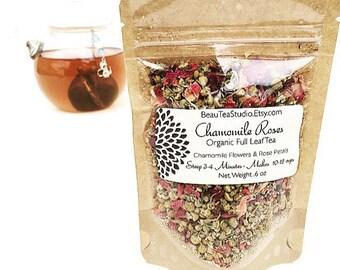 Chamomile Rose Petal Organic Herbal Tea