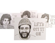 Soul Love Cards - Marvin Gaye/Michael Jackson/Prince(Sold Out)/Aretha Franklin