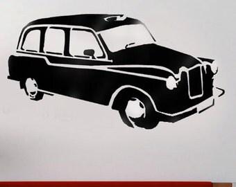 Black London taxi Stencil, London stencil, painting stencils, Ideal Stencils
