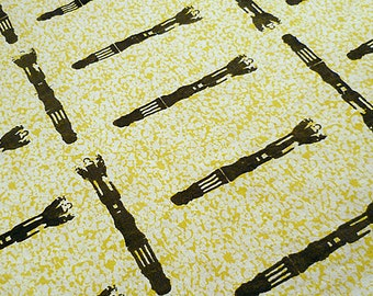 Doctor Who Sonic Screwdriver Screen Printed Fat Quarter