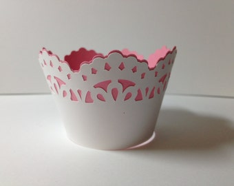 Lacy Cupcake Wrapper/Bridal Shower/Baby Shower/Birthday/Anniversary/Graduation Party