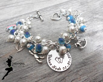 Miscarriage Awareness Bracelet in Stainless Steel | SIDS, Infant Loss PAIL Bracelet | Miscarriage Jewelry | Miscarriage Jewelry