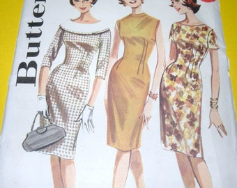 1962 UNCUT Butterick 2137 size 14 Dress Pattern