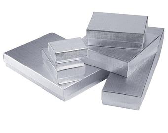 Silver Foil Linen Finish Gift Box